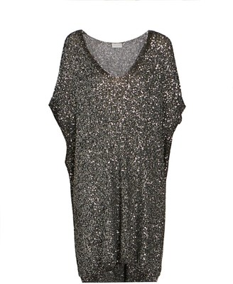 Saint Laurent Sequin Caftan Dress