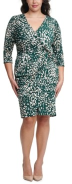 Jessica Howard Plus Size Side-Twist Sheath Dress
