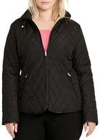Lauren Ralph Lauren Plus Diamond-Quilted Long Sleeve Jacket