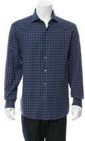 Ermenegildo Zegna Windowpane Button-Up Shirt w/ Tags