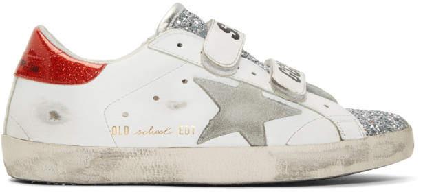 Golden Goose White Glitter Superstar Old School Sneakers