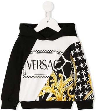 Versace printed logo hoodie