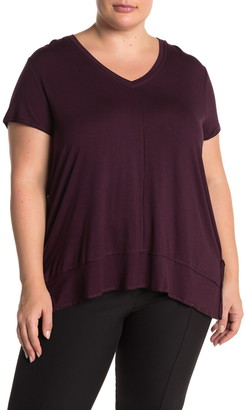 H By Bordeaux Exposed Seam V-Neck T-Shirt
