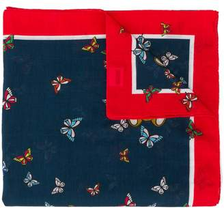 Moschino Butterflies and Teddy Bear print scarf