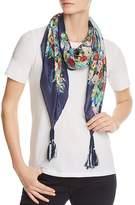 Johnny Was Midleton Floral-Print Silk Scarf