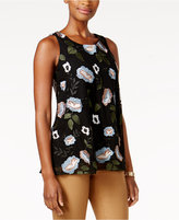 Charter Club Embroidered Mesh Tank, Only at Macy's