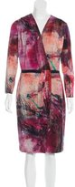 Piazza Sempione Abstract Print Knee-Length Dress w/ Tags