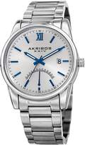 Akribos XXIV Men's Date & 24-Hour Retrograde Indicator Watch, 42mm