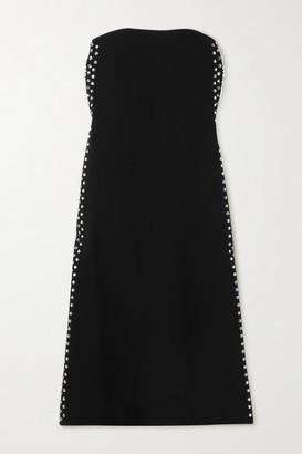 Proenza Schouler Strapless Embellished Cady Midi Dress - Black
