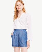 Ann Taylor Petite Chambray Drapey Shorts
