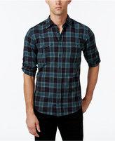 HUGO BOSS Orange Men's Cadetto Plaid Long-Sleeve Shirt