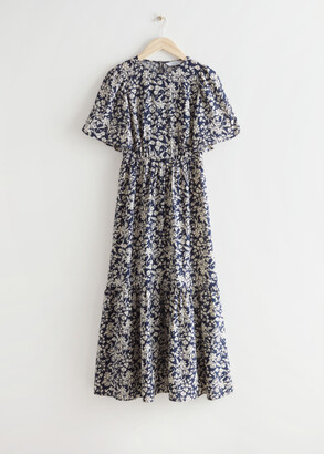And other stories Printed Puff Sleeve Maxi Dress