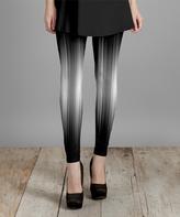 Lily Black & White Light Knit Slim-Leg Pants - Plus Too