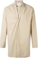 Stephan Schneider concealed fastening midi coat - men - Cotton - S