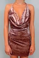 Cotton Candy Crush Velvet Dress
