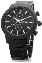 Mark & James by Badgley Mischka Black Stainless Steel Chronograph Watch