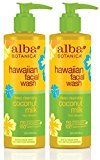 Alba Coconut Milk Facial Wash 8 oz (Pack of 2)