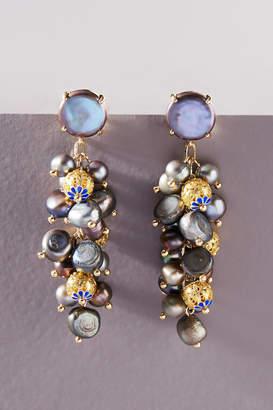 Anthropologie Pearl Cluster Drop Earrings