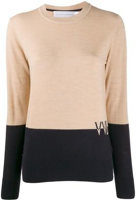 Victoria Victoria Beckham Colour-Block Wool Jumper