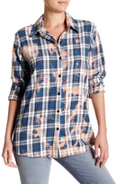 Vintage Havana Plaid Patch Long Sleeve Shirt