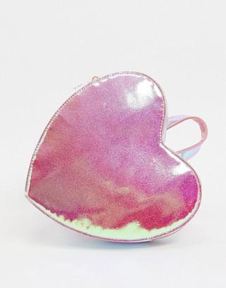 ASOS DESIGN novelty heart backpack