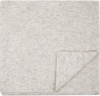 The Little White Company Star cashmere baby blanket, Pale grey marl