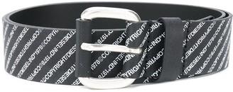 Diesel Logo-Print Belt