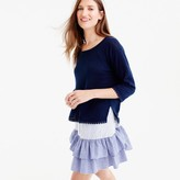 J.Crew Linen sweater with pom-pom trim