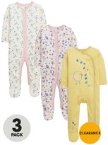 Ladybird Baby Girls Floral Sleepsuits