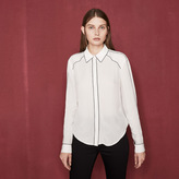 Maje Blouse with contrasting piping