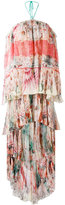 Roberto Cavalli floral shift maxi dress - women - Silk/Polyamide - 42