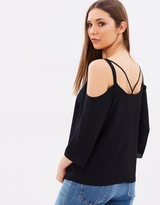 Wallis Strap Back Cold Shoulder Top
