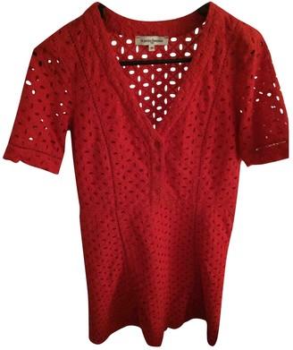 La Petite Francaise Red Cotton Dress for Women