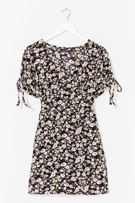 Nasty Gal Womens Let Your Love Grow Floral Mini Dress - Black - 6, Black