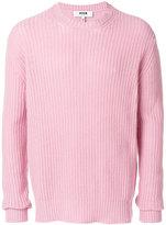 MSGM frayed ribbed jumper - men - Polyamide/Wool - M