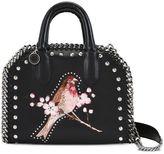 Stella McCartney black falabella box bird mini bag