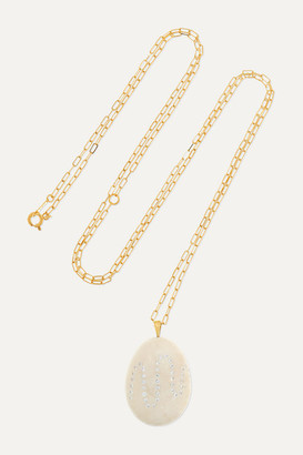 Cvc Stones Billowing 18-karat Gold, Stone And Diamond Necklace