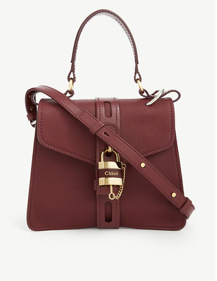 Chloé Aby pebbled leather satchel bag
