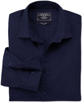 Charles Tyrwhitt Blue plain twill slim fit shirt