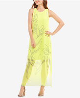 Vince Camuto Printed Overlay Dress