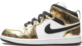 Jordan AIR 1 MID SE PS 'Metallic Gold' Shoes - Size 11C