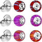 Body Candy Acrylic Beach Ball Stud Earrings Set