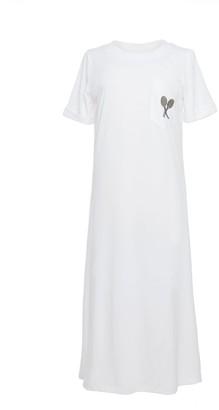 Tomcsanyi Evert White T-Shirt Dress