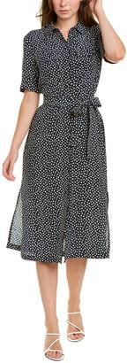 Lafayette 148 New York Doha Linen & Silk-Blend Shirtdress