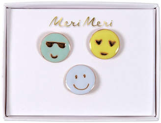 Meri Meri Emoji Pins Set Of 3