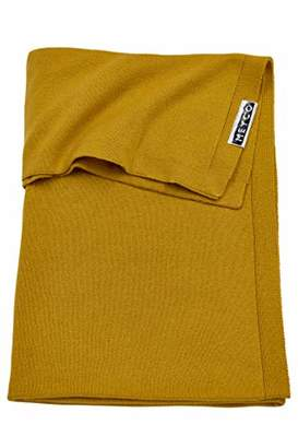 Camilla And Marc Meyco 2753023 Knitted Baby Blanket 100 x 150 cm Ochre Yellow
