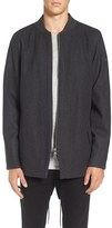 Zanerobe Men's Aten Melton Wool Blend Longline Fishtail Bomber Jacket