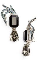 Oscar de la Renta Women's Pave Swarovski Crystal Leaf Clip Earrings