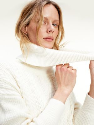 Tommy Hilfiger Cable Knit Roll Neck Jumper