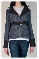 Blue Tweed Contrast Jacket